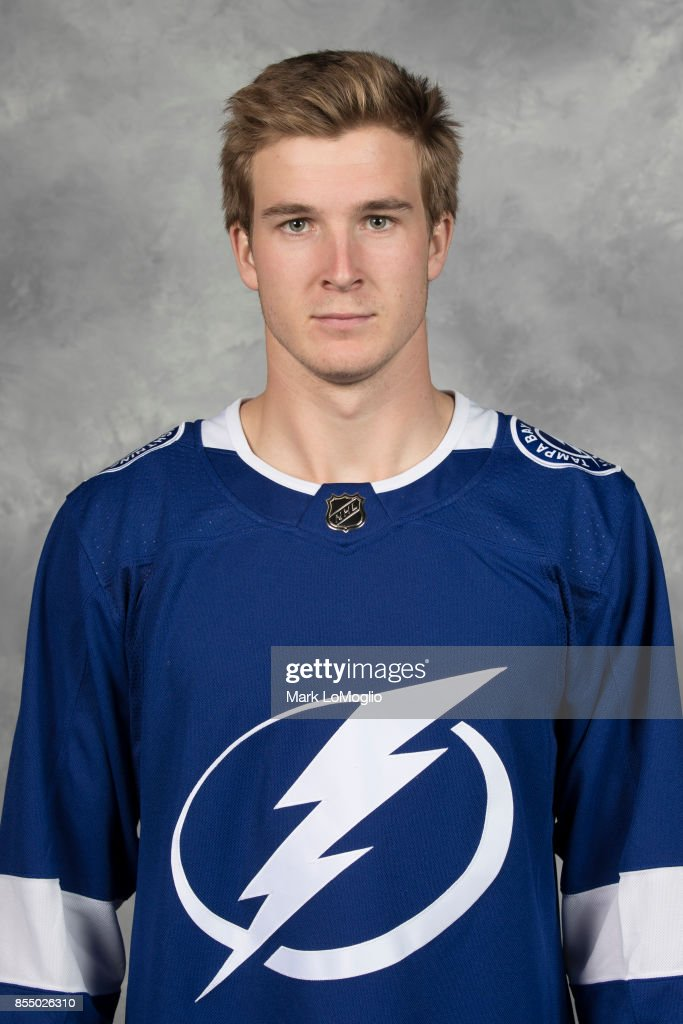 Taylor Raddysh of the Tampa Bay Lightning poses for his official headshot for the 2017-2018 season on September 14, 2017 at Amalie Arena in Tampa, Florida.