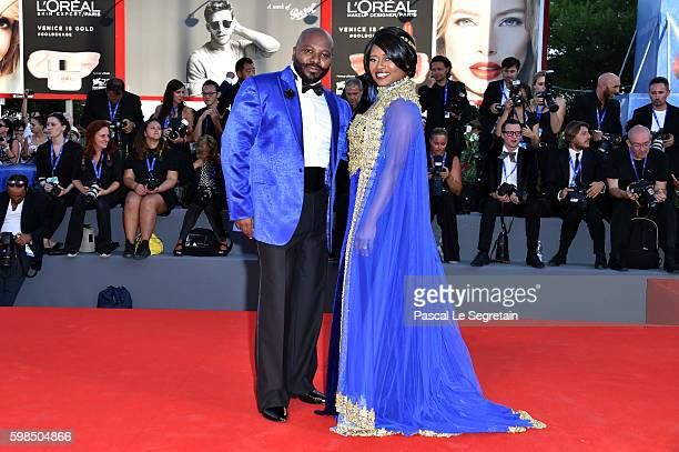 Taylor Re Lynn and Franklin Eugene attend the premiere of 'The Light Between Oceans' during the 73rd Venice Film Festival at Sala Grande on September...