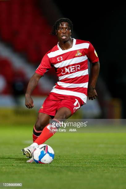 Taylor Richards of Doncaster Rovers during the EFL Trophy match between Doncaster Rovers v Bradford City at Keepmoat Stadium on September 8 2020 in...