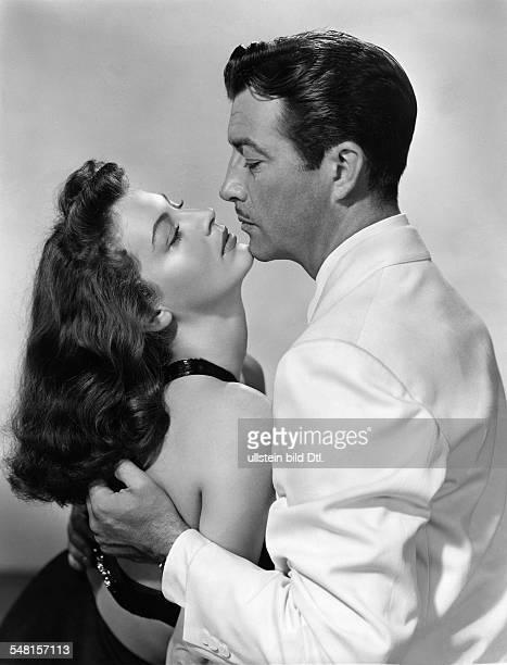 Taylor Robert * Schauspieler USA mit Ava Gardner in dem Film 'Geheimaktion Carlotta' 1955
