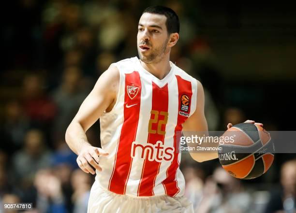 Taylor Rochestie of Crvena Zvezda in action during the 2017/2018 Turkish Airlines EuroLeague Regular Season Round 18 game between Crvena Zvezda mts...