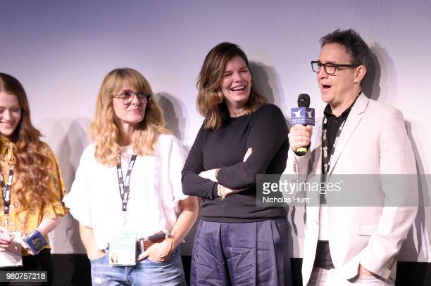 Taylor Rose Elizabeth Crane Jeanne Tripplehorn and Donal Lardner Ward attend the 'We Only Know So Much' QA at the 2018 Nantucket Film Festival Day 2...