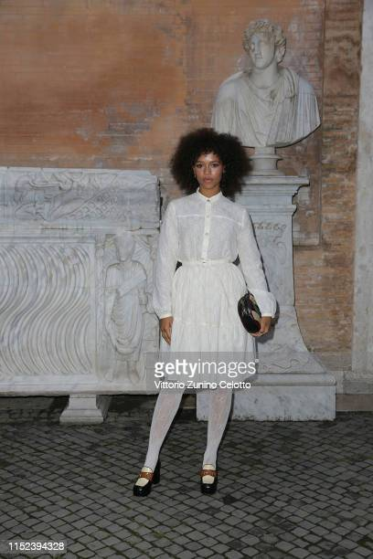 Taylor Russel arrives at the Gucci Cruise 2020 at Musei Capitolini on May 28 2019 in Rome Italy