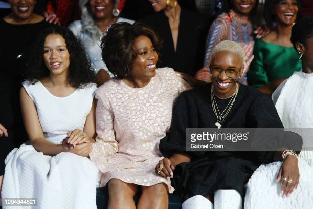 Taylor Russell, Alfre Woodard and Cynthia Erivo attend Alfre Woodard's 11th Annual Sistahs' Soirée at The Private Residence of Jonas Tahlin, CEO of...