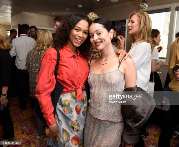 Taylor Russell and Alexa Demie attend the Telluride Film Festival 2019 on August 31 2019 in Telluride Colorado