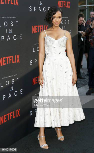 Taylor Russell arrives to the Los Angeles premiere of Netflix's Lost In Space Season 1 held at The Cinerama Dome on April 9 2018 in Los Angeles...