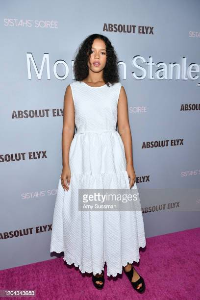 Taylor Russell attends Alfre Woodard's 11th Annual Sistahs' Soirée Presented by Morgan Stanley With Absolut Elyx on February 05 2020 in Los Angeles...