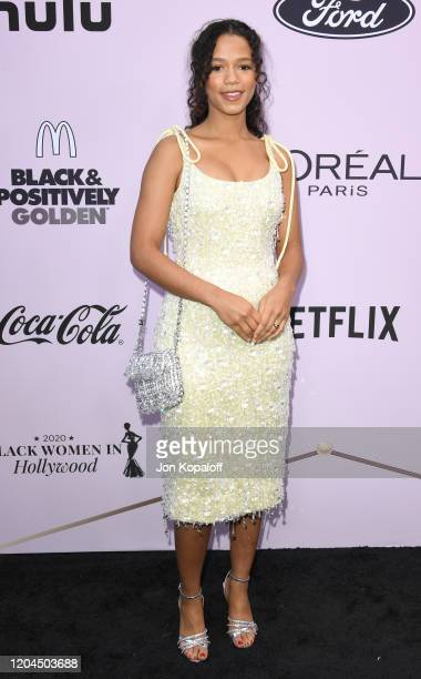 Taylor Russell attends the 13th Annual Essence Black Women In Hollywood Awards Luncheon at the Beverly Wilshire Four Seasons Hotel on February 06,...