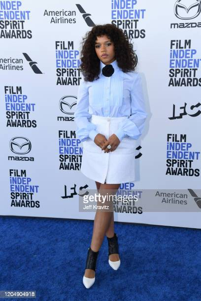 Taylor Russell attends the 2020 Film Independent Spirit Awards on February 08 2020 in Santa Monica California
