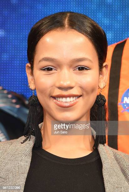 Taylor Russell attends the 'Lost In Space' premier event at Omotesando Hills on April 3 2018 in Tokyo Japan