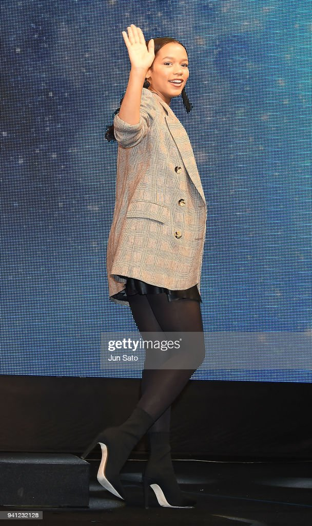 Taylor Russell attends the 'Lost In Space' premier event at Omotesando Hills on April 3, 2018 in Tokyo, Japan.