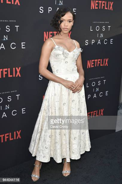 Taylor Russell attends the 'Lost In Space' Season 1 Premiere at ArcLight Cinerama Dome on April 9 2018 in Hollywood California