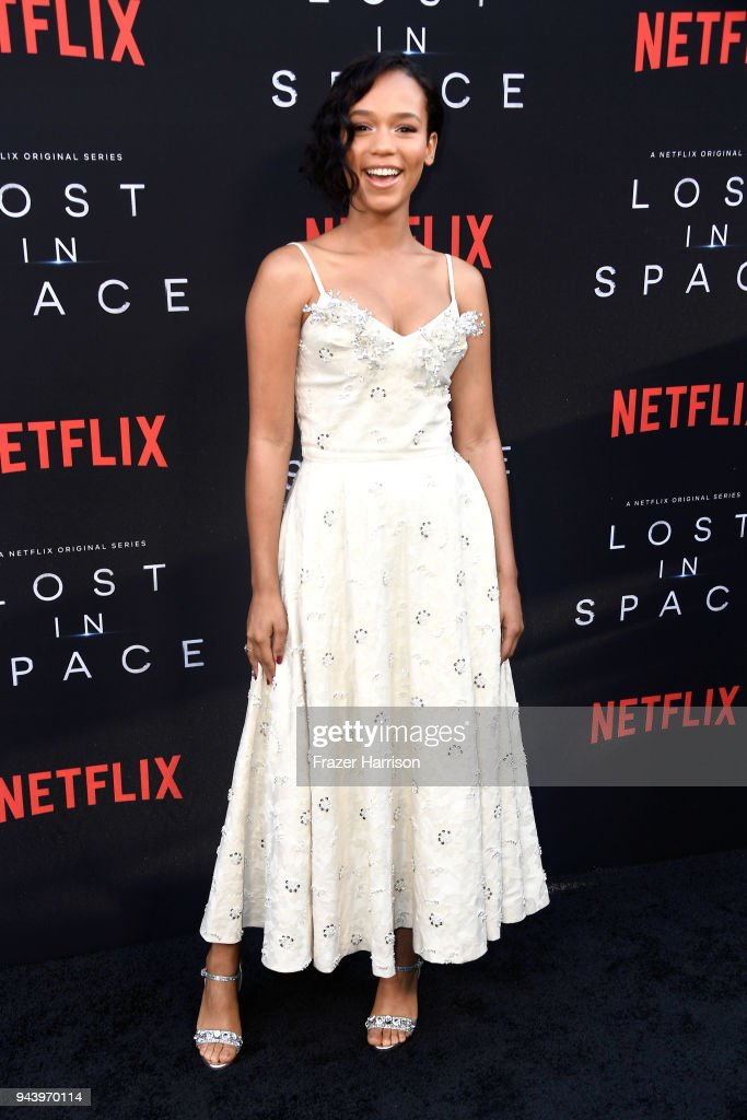Taylor Russell attends the premiere of Netflix's 'Lost In Space' Season 1 at The Cinerama Dome on April 9, 2018 in Los Angeles, California.