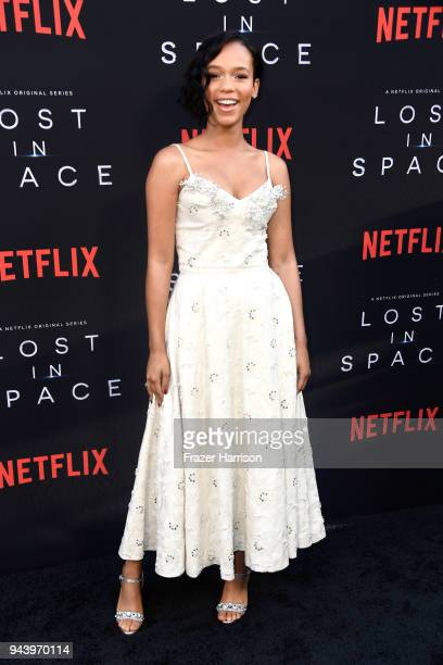 Taylor Russell attends the premiere of Netflix's 'Lost In Space' Season 1 at The Cinerama Dome on April 9 2018 in Los Angeles California