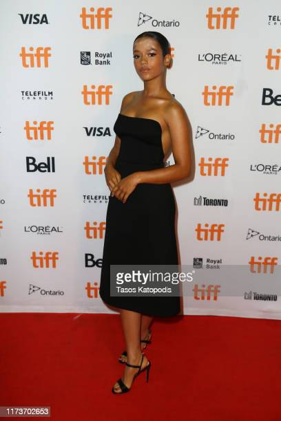 Taylor Russell attends the Waves premiere during the 2019 Toronto International Film Festival at Ryerson Theatre on September 10 2019 in Toronto...