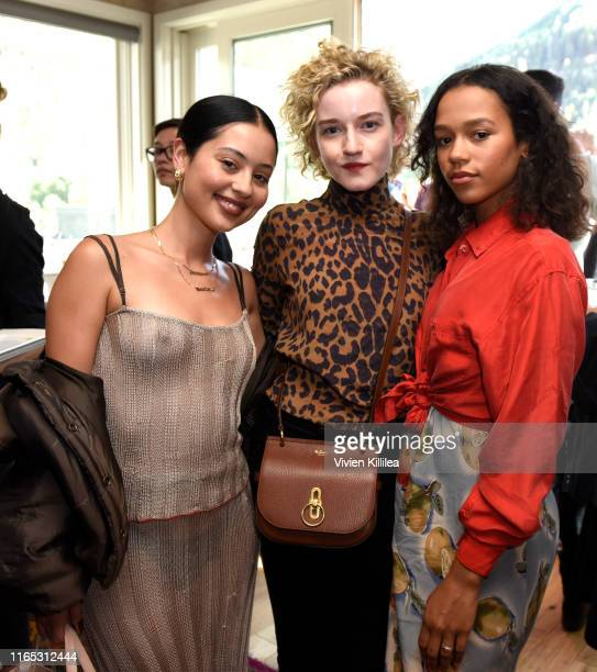 Taylor Russell Julia Garner and Alexa Demie attend the Telluride Film Festival 2019 on August 31 2019 in Telluride Colorado