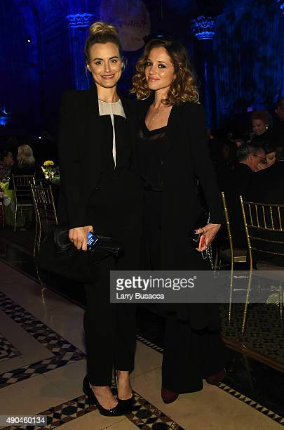 Taylor Schilling and guest attend the 9th Annual Exploring The Arts Gala founded by Tony Bennett and his wife Susan Benedetto at Cipriani 42nd Street...