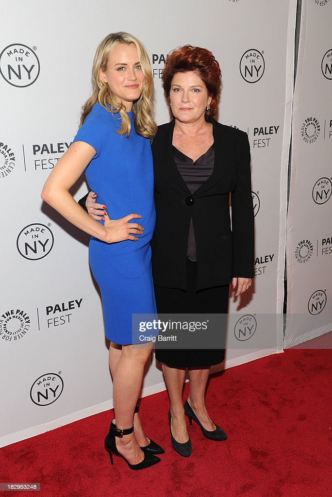 Taylor Schilling and Kate Mulgrew (R) attend 'Orange Is the New Black' during 2013 PaleyFest: Made In New York at The Paley Center for Media on October 2, 2013 in New York City.