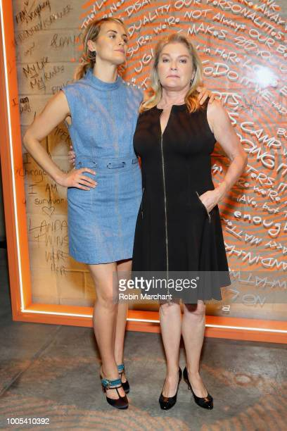 "Taylor Schilling and Kate Mulgrew attend ""Refinery29's 29Rooms Turn it Into Art"" on July 25 2018 in Chicago Illinois"