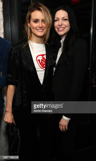 Taylor Schilling and Laura Prepon attend Russian Doll Premiere at The Metrograph on January 23 2019 in New York City