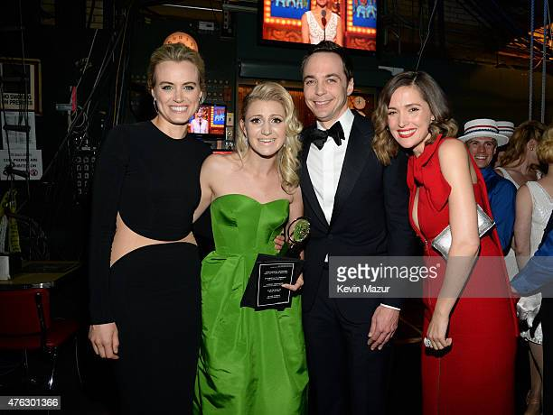 Taylor Schilling Annaleigh Ashford Jim Parsons and Rose Byrne attend the 2015 Tony Awards at Radio City Music Hall on June 7 2015 in New York City