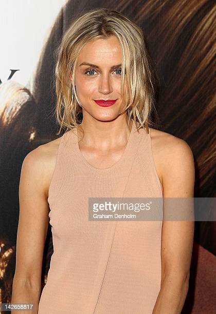 Taylor Schilling arrives at 'The Lucky One' Melbourne Premiere at Village Cinemas Crown on April 11 2012 in Melbourne Australia