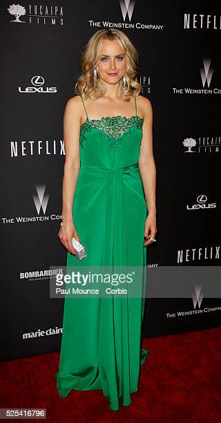 Taylor Schilling arrives at the Weinstein Company Golden Globes AfterParty