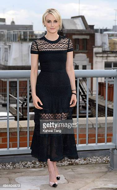 Taylor Schilling attends a photocall to launch season 2 of the Netflix exclusive series 'Orange Is The New Black' at Soho Hotel on May 29 2014 in...