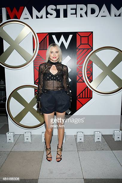 Taylor Schilling attends All Aboard as W Hotels toasts the upcoming opening of W Amsterdam with 'Captains' Taylor Schilling Erin Heatherton Chanel...