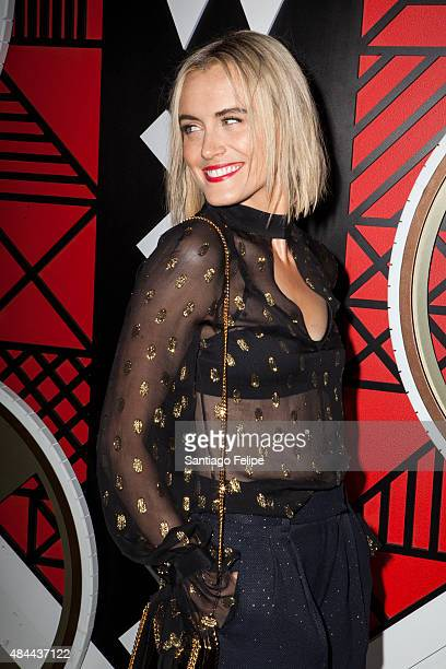 Taylor Schilling attends All Aboard W Hotels Toasts The Upcoming Opening Of W Amsterdam at Grand Banks on August 18 2015 in New York City