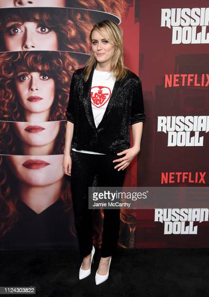 """Taylor Schilling attends Netflix's """"Russian Doll"""" Season 1 Premiere at Metrograph on January 23, 2019 in New York City."""