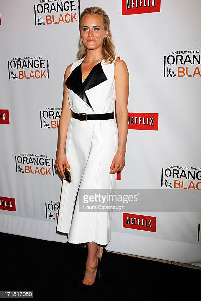 Taylor Schilling attends Orange Is The New Black premiere at The New York Botanical Garden on June 25 2013 in New York City