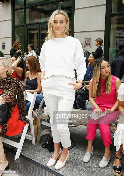 Taylor Schilling attends Rachel Comey presentation during New York Fashion Week on September 7 2016 in New York City