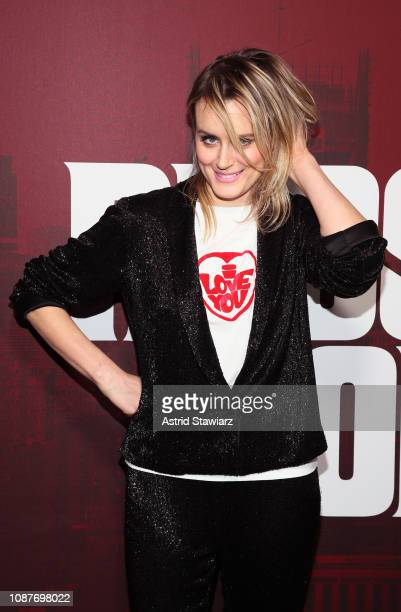 """Taylor Schilling attends """"Russian Doll"""" Premiere at The Metrograph on January 23, 2019 in New York City."""