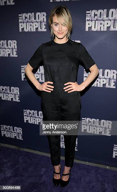 Taylor Schilling attends 'The Color Purple' Broadway opening night at the Bernard B Jacobs Theatre on December 10 2015 in New York City