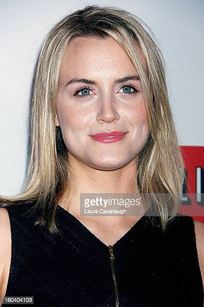 Taylor Schilling attends the House Of Cards premiere at Alice Tully Hall on January 30 2013 in New York City