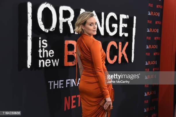 """Taylor Schilling attends the """"Orange Is The New Black"""" Final Season World Premiere at Alice Tully Hall, Lincoln Center on July 25, 2019 in New York..."""