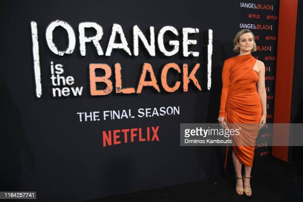 Taylor Schilling attends the Orange Is The New Black Final Season World Premiere at Alice Tully Hall Lincoln Center on July 25 2019 in New York City