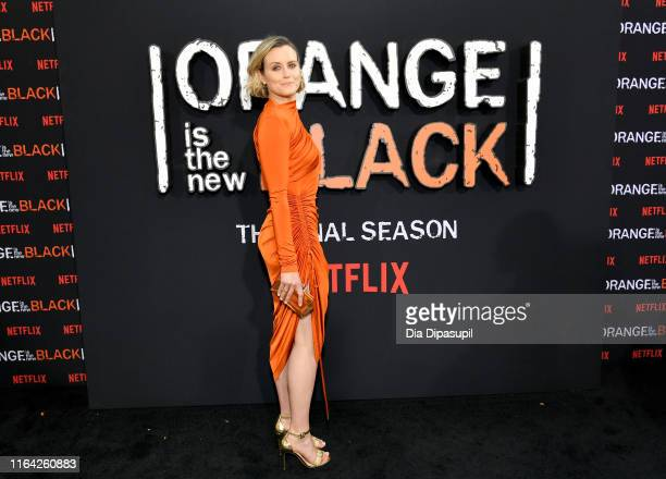 Taylor Schilling attends the Orange is the New Black Season 7 World Premiere Screening and Afterparty 2019 on July 25 2019 in New York City