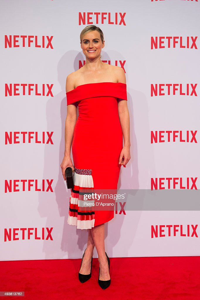 Taylor Schilling attends the red carpet for the Netflix launch at Palazzo Del Ghiaccio on October 22, 2015 in Milan, Italy.