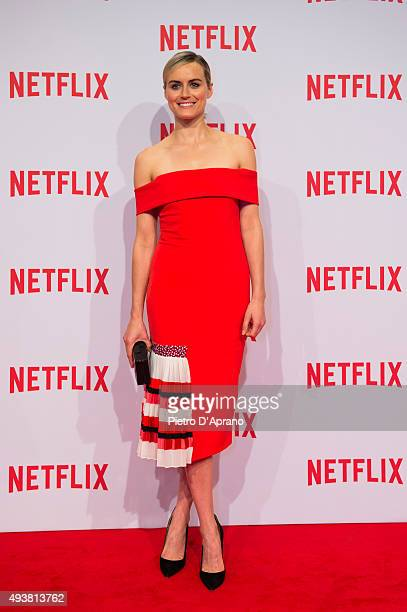 Taylor Schilling attends the red carpet for the Netflix launch at Palazzo Del Ghiaccio on October 22 2015 in Milan Italy