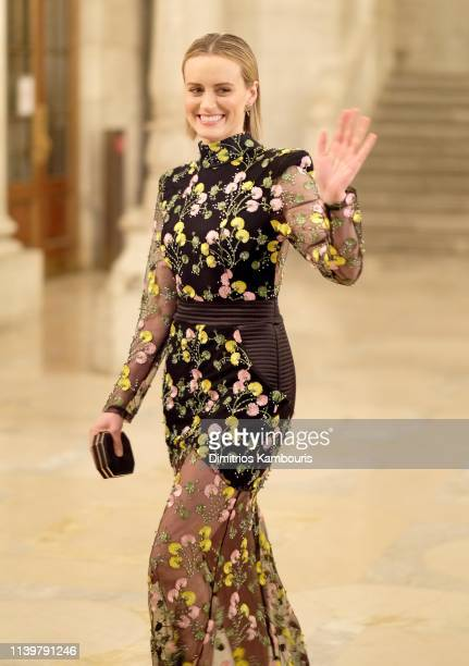 """Taylor Schilling attends the """"The Public"""" New York Premiere at New York Public Library - A Schwartzman Building on April 01, 2019 in New York City."""