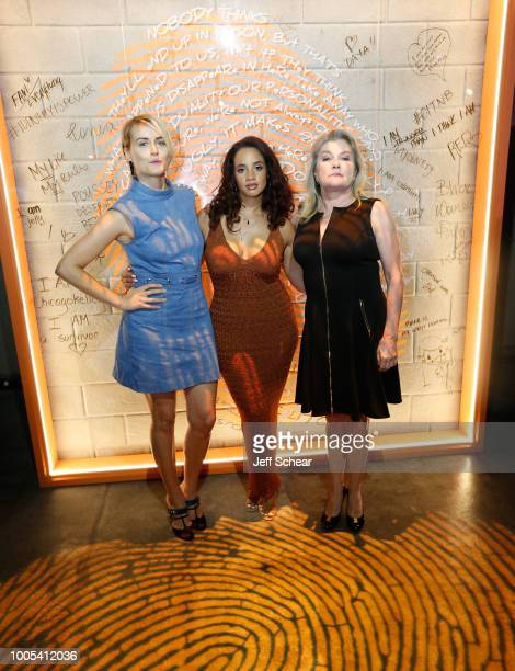 """Taylor Schilling Dascha Polanco and Kate Mulgrew attend """"Refinery29's 29Rooms Turn it Into Art"""" on July 25 2018 in Chicago Illinois"""