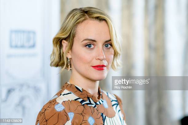 """Taylor Schilling discusses """"Family"""" with the Build Series at Build Studio on April 16, 2019 in New York City."""