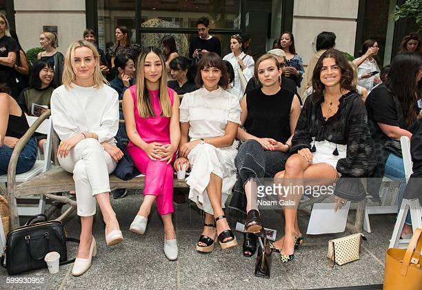 Taylor Schilling Greta Lee Rashida Jones Morgan Saylor and Leandra Medine attend the Rachel Comey fashion show during New York Fashion Week September...