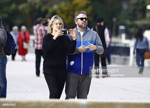Taylor Schilling is seen at Retiro Park on October 20 2015 in Madrid Spain