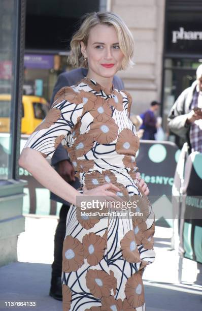 Taylor Schilling is seen on April 16 2019 in New York City