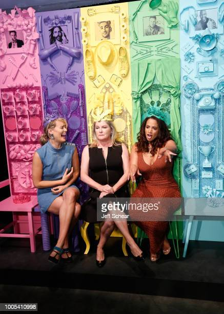 "Taylor Schilling Kate Mulgrew and Dascha Polanco attends ""Refinery29's 29Rooms Turn it Into Art"" on July 25 2018 in Chicago Illinois"