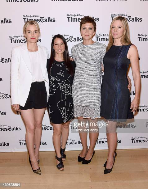Taylor Schilling Lucy Liu Maggie Gyllenhaal and Mira Sorvino attend 'TimesTalks' at Times Center on July 24 2014 in New York City