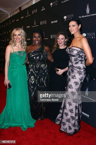 Taylor Schilling Uzo Aduba Natasha Lyonne and Laura Prepon attend the Weinstein Company's 2014 Golden Globe Awards after party on January 12 2014 in...